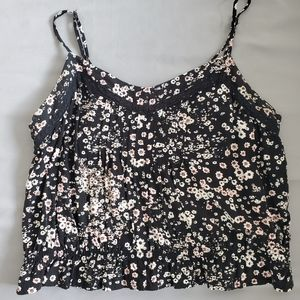 Garage Cropped Floral Tank Top Size Large